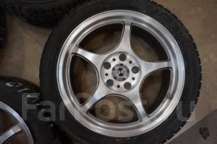215/45R17 Зимние шины с литыми дисками 5Zigen. Без пробега по РФ. 7.0x17 5x114.30 ET48 ЦО 73,0мм.