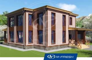 M-fresh Admiral (Проект дома со встроенным гаражом на 2 авто! ). 200-300 кв. м., 2 этажа, 4 комнаты, кирпич