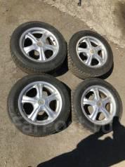 Продам комплект зимней резины на литье 205/65/R16. 7.0x16 5x114.30 ET35 ЦО 76,0мм.