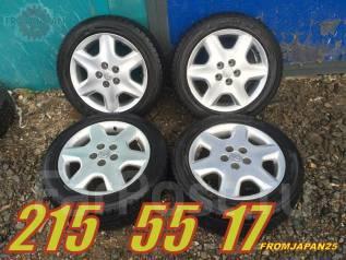 215/55R17 Японские зимние колёса на литых дисках Toyota. Отправка по РФ. x17 5x114.30 ET45 ЦО 60,0мм.