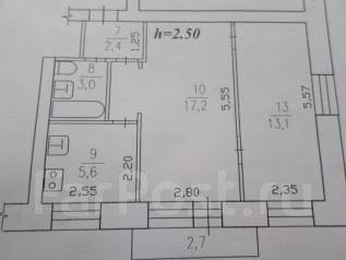 2-комнатная, улица Котовского 2. частное лицо, 42 кв.м.