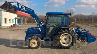 Iseki TA. Трактор погрузчик 417 с кабиной +КУН+фреза, 2 500 куб. см.