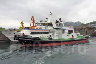 Буксир - портовый катер производства Япония. длина 16,00м., двигатель стационарный, 200,00л.с., дизель. Под заказ