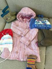 Пакет тепленьких вещей на девочку 2-4 года. Рост: 50-60, 104-110 см