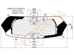 Стекло заднее (крышка багажника) с обогревом CHERY KIMO(S12) 5D HATCHBACK 07-