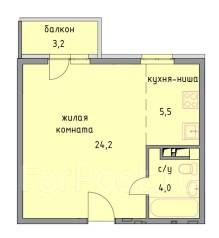 1-комнатная, Анапа, шоссе Анапское 6к1. Восточного рынка , частное лицо, 37 кв.м.