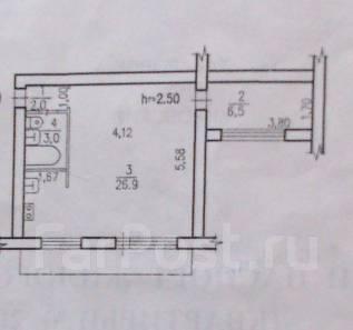 1-комнатная, улица Серышева 21. Центральный, агентство, 40 кв.м.