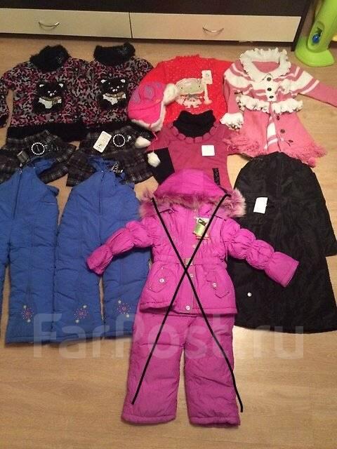 11 новых тёплых вещей на девочку. Подойдет для близнецов или погодок. Рост: 98-104, 104-110, 110-116 см