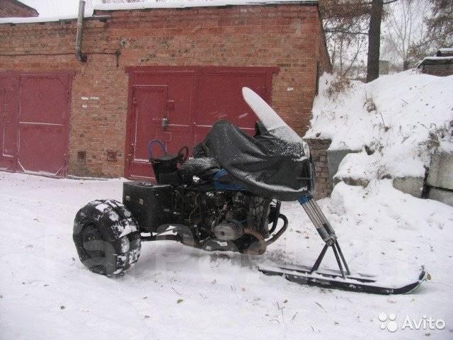 Как сделать буран с мотоцикла