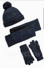 Шапка, шарф и перчатки. Рост: 86-98 см