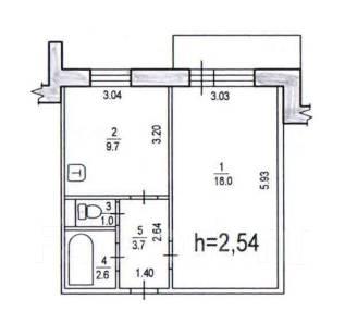 1-комнатная, пос.Березовка,квартал Мира 2. Краснофлотский, агентство, 35 кв.м.