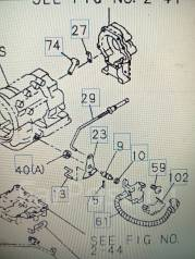 Проводка акпп. Isuzu Bighorn, UBS69GW, UBS69DW Двигатель 4JG2