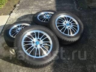 Литые диски R14 с зимними шинами 185/65R14 Michelin x-Ice. 5.5x14 4x100.00 ET45