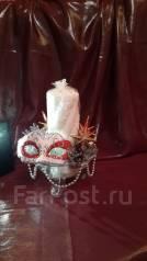 Империя блеска - декорированные подсвечники со свечами. Ручная работа.