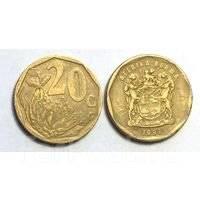 ЮАР 20 центов 1995 год