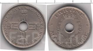 Норвегия 1 крона 1949 год