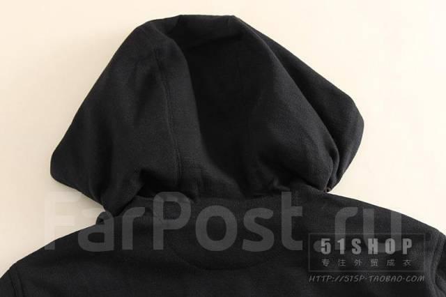 Распродажа! Мужская мастерка на пуговицах с капюшоном. Черная. М. 50, 52, 54, 56, 58