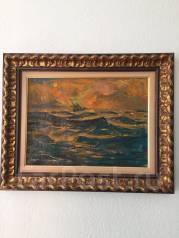 """Продам картину""""Океан""""Вечер 1968г. Автора И. В. Рыбачук"""