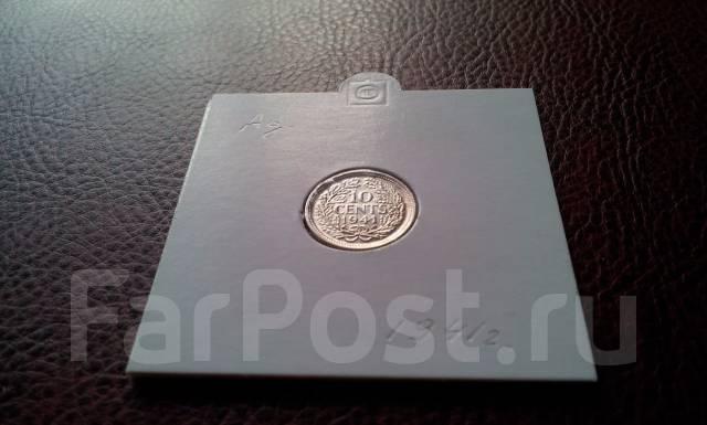 Cеребро! Нидерланды. 10 центов 1941 г. Королева Вильгельмина.