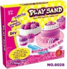 """Набор для лепки """"Play Sand"""" Пирог на День Рождения"""