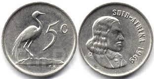 ЮАР 5 центов 1965 год