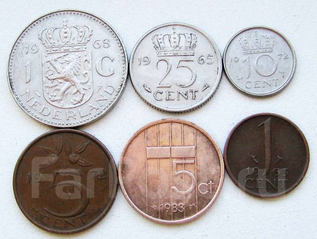 Нидерланды. Подбор монет без повторов