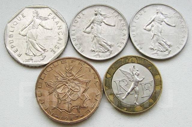 Франция. Подбор монет без повторов. Лот 1