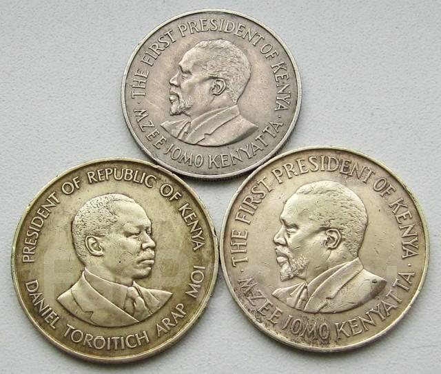 Кения. 1 шиллинг и 10 центов разных годов