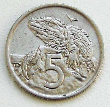 Новая Зеландия. 5 центов 1975 г