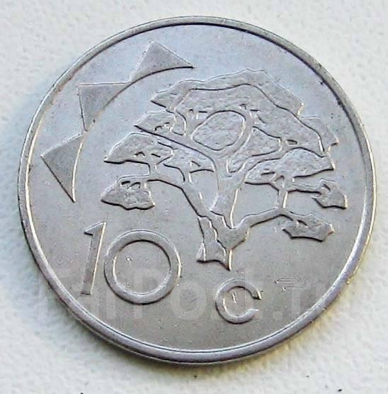 Намибия. 10 центов 1998 г