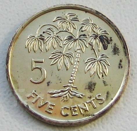 Сейшелы. 5 центов 2007 г
