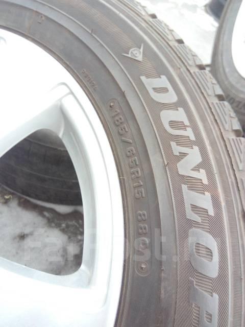 185/65R15 + литые диски 5х100 из Японии. 6.0x15 5x100.00 ET50 ЦО 73,1мм.