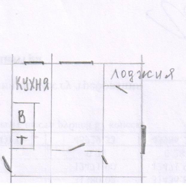 2-комнатная, улица Добровольского 7а. Тихая, агентство, 48 кв.м. План квартиры