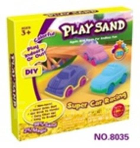 """Набор для лепки """"Play Sand"""" Супергонки"""