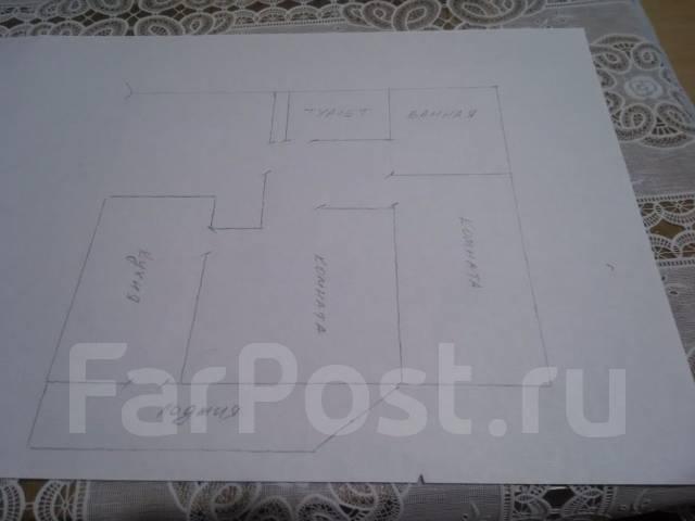 2-комнатная, улица Адмирала Горшкова 30. Снеговая падь, частное лицо, 53 кв.м. План квартиры