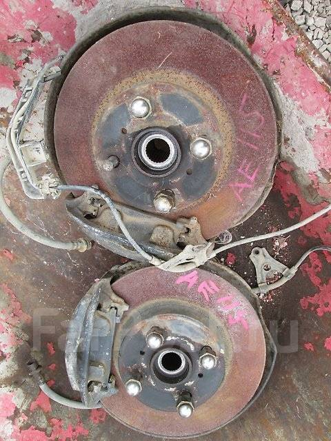 Суппорт тормозной. Toyota Sprinter Carib, AE115