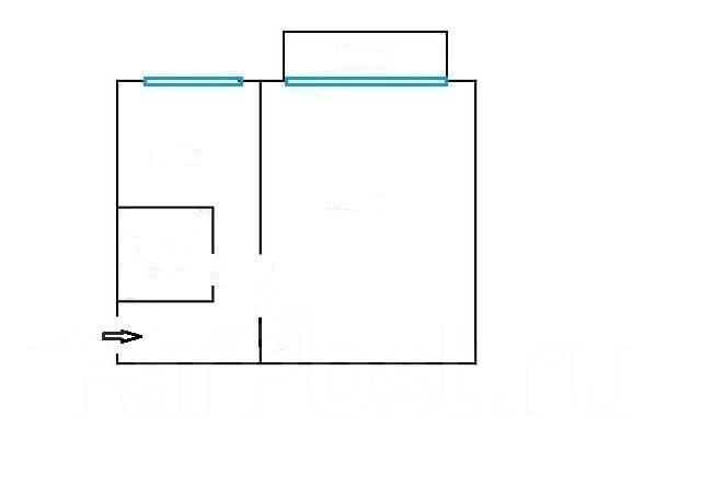 1-комнатная, улица Промышленная 1-я 3. Трудовая, агентство, 30 кв.м. План квартиры