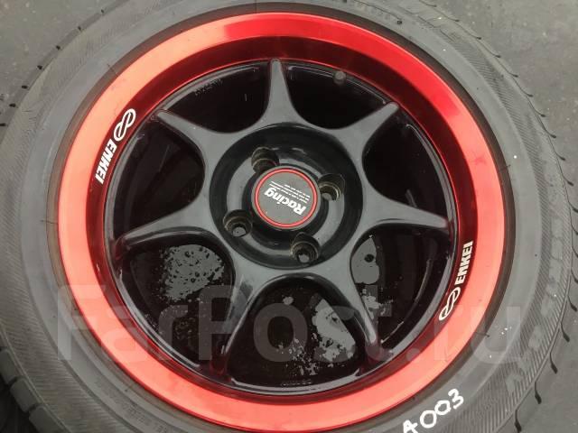 195/55R15 Bridgestone на литье Enkei. В пути из Японии (А003). 6.5x15 4x100.00 ET32. Под заказ