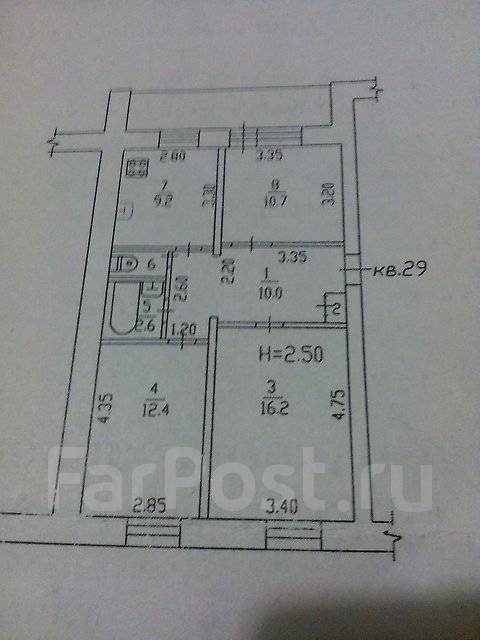 3-комнатная, Руднева ,58. Краснофлотский, агентство, 67 кв.м.