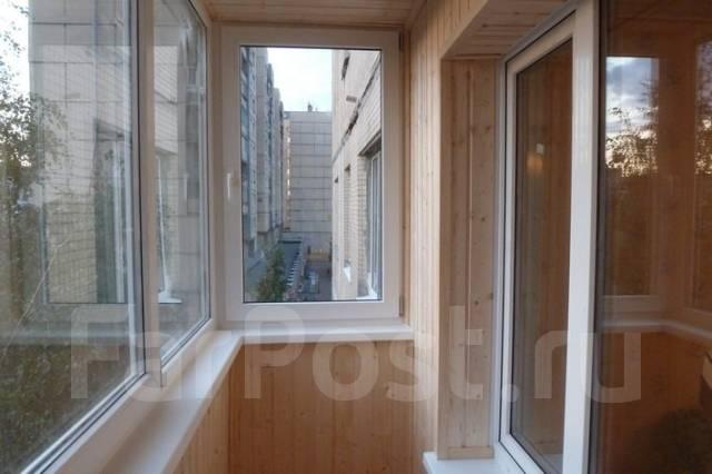 Установка балконов.