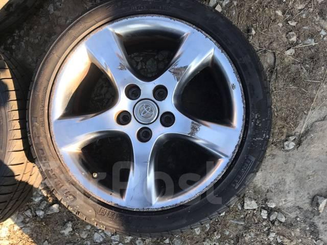Комплект колес jzx110 Рестайл Темный хром 5 штук. 7.0/7.5x17 5x114.30 ET50/50