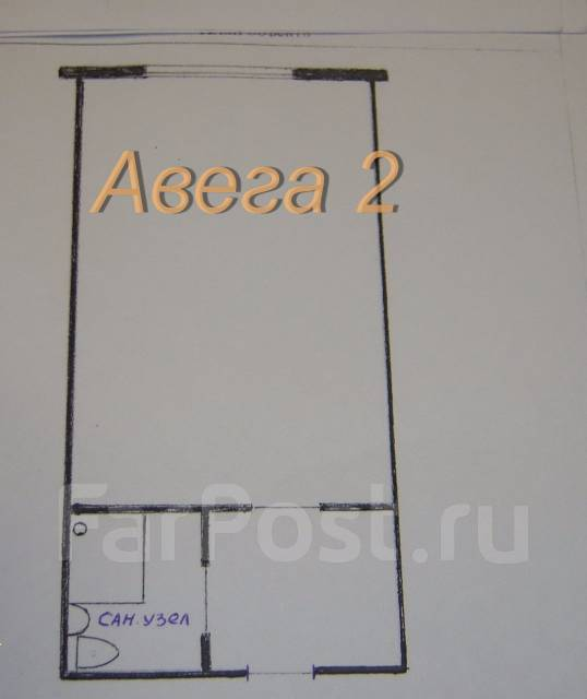Гостинка, улица Сельская 12. Баляева, проверенное агентство, 24 кв.м. План квартиры