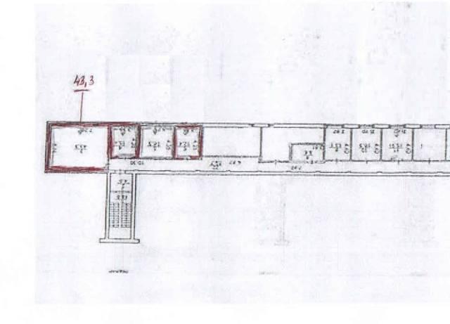 Продам помещение в подвале(под склад, архив. мастерскую). Улица Нерчинская 10, р-н Центр, 43 кв.м. План помещения