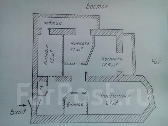 Сдам в аренду офис 80 кв. на Некрасовской 48а от собственника. 80 кв.м., улица Некрасовская 48а, р-н Некрасовская. План помещения