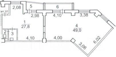 Нежилое помещение в ЖК Фрегат от застройщика. Улица Ватутина 4в, р-н 64, 71 микрорайоны, 88 кв.м. План помещения