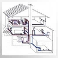 Монтаж отопления, водоснабжения и канализации.