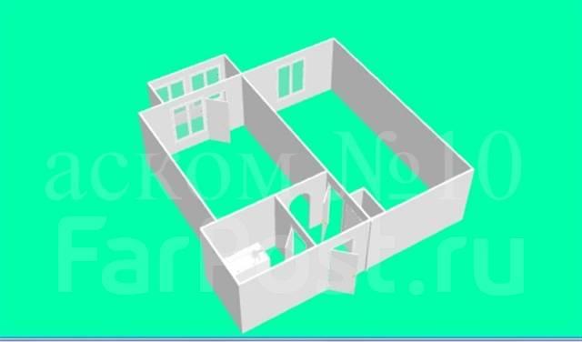 1-комнатная, улица Ватутина 4а. 64, 71 микрорайоны, агентство, 40 кв.м. План квартиры
