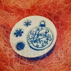 Подарочное мыло ручной работы к Новому году. Под заказ