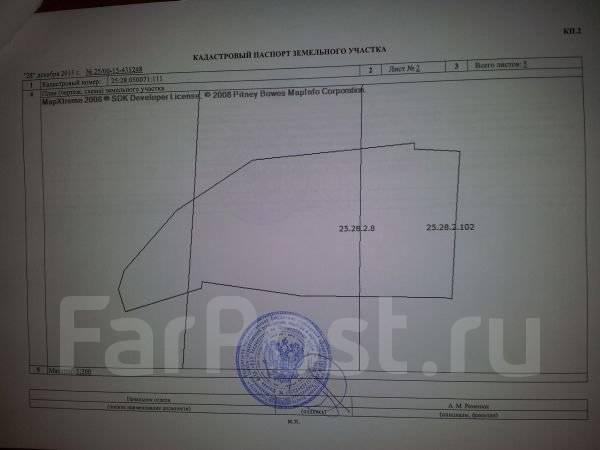 Продается земля на Спутнике во Владивостоке. 721 кв.м., собственность, электричество, вода, от агентства недвижимости (посредник). Схема участка
