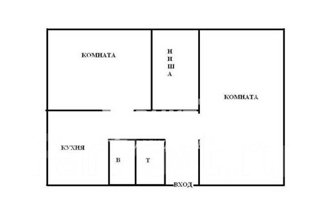 2-комнатная, переулок Днепровский 7. Столетие, агентство, 46 кв.м. План квартиры